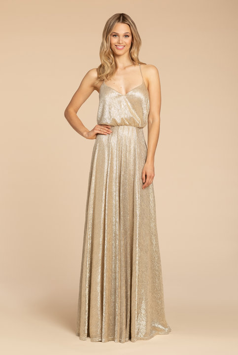 Style 5953 by Hayley Paige Occasions in Gold liquid metallic
