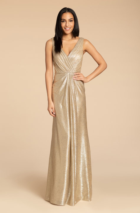 Style 5954 by Hayley Paige Occasions in Gold liquid metallic