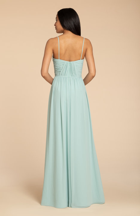 Back of style 5951 in Ice chiffon by Hayley Paige Bridesmaids