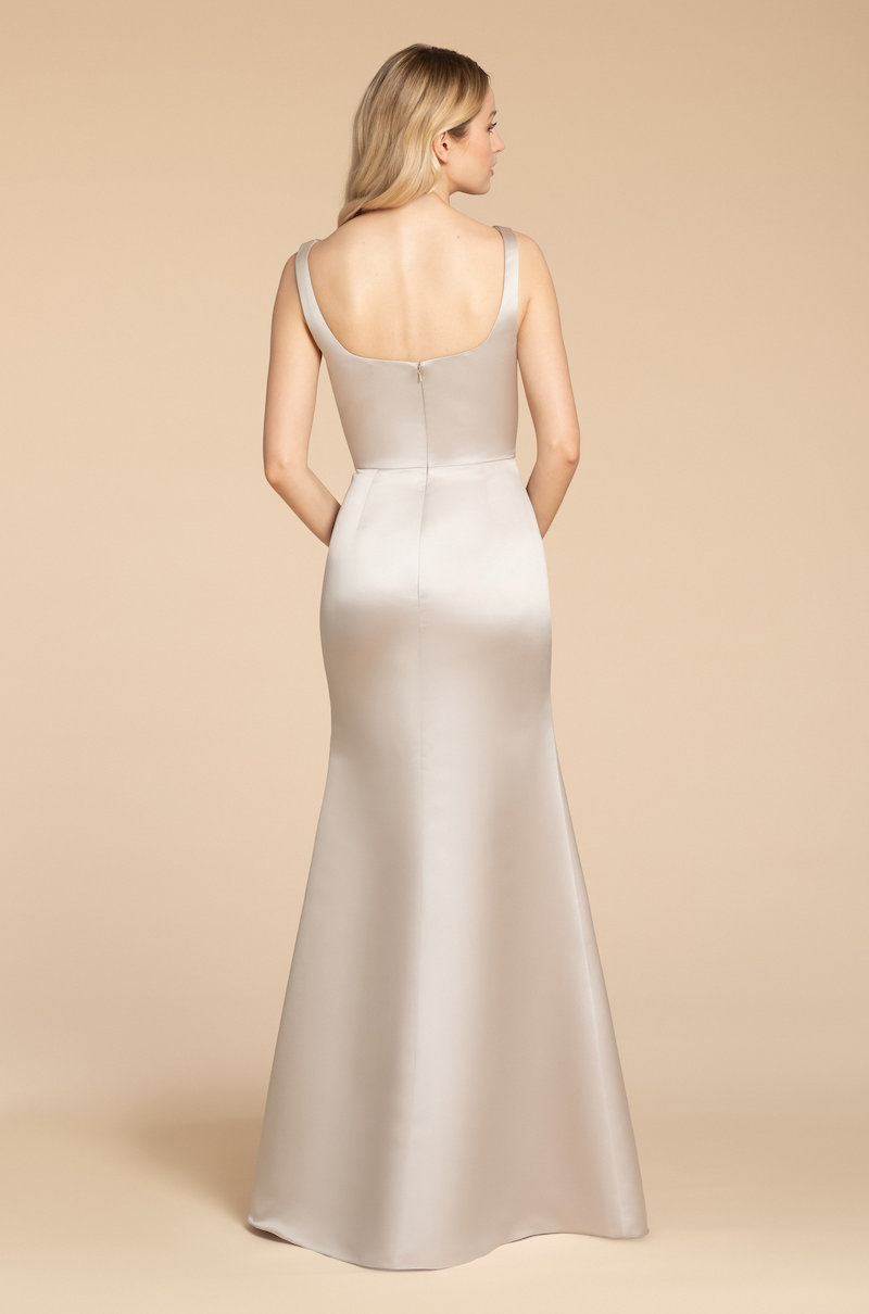 Back of style 5952 in Candlelight satin by Hayley Paige Bridesmaids