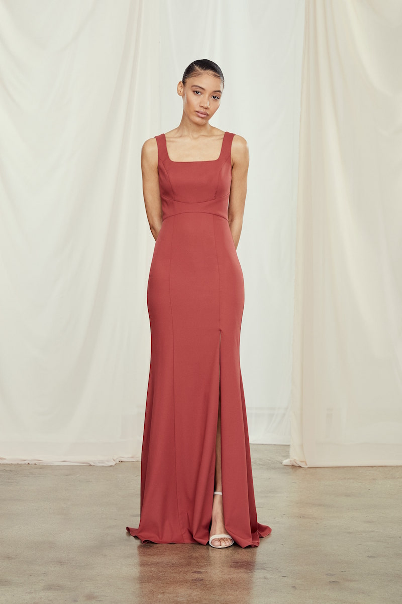 James by Amsale Bridesmaids in Cayenne crepe