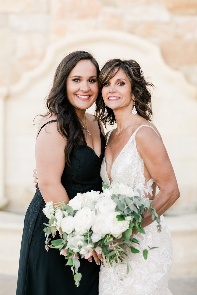 Hayley Paige Occasions Bridesmaid wearing 5814 in black
