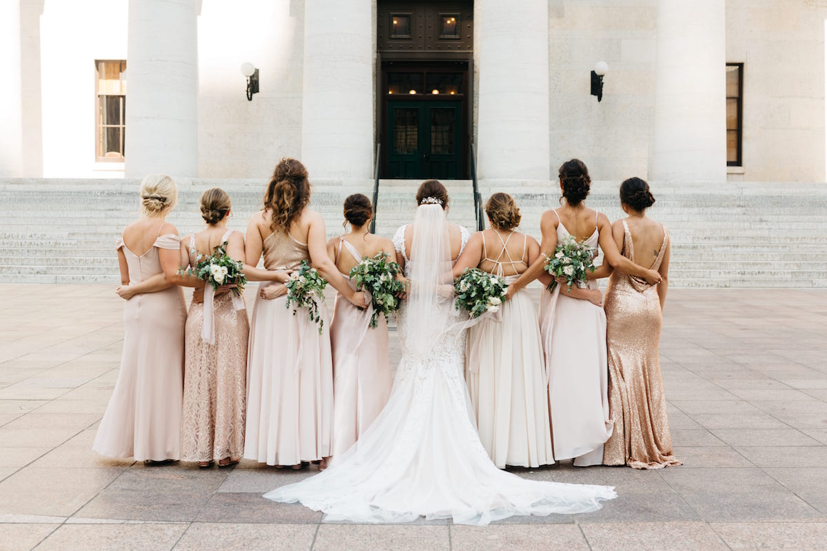Total Mix and Match party in Rose Gold Blush Neutral tones