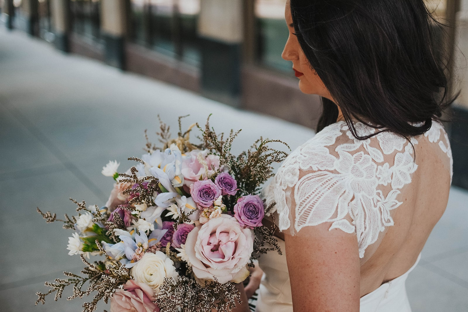 Styled Shoot featuring Amsale Little White Dresses style LW142