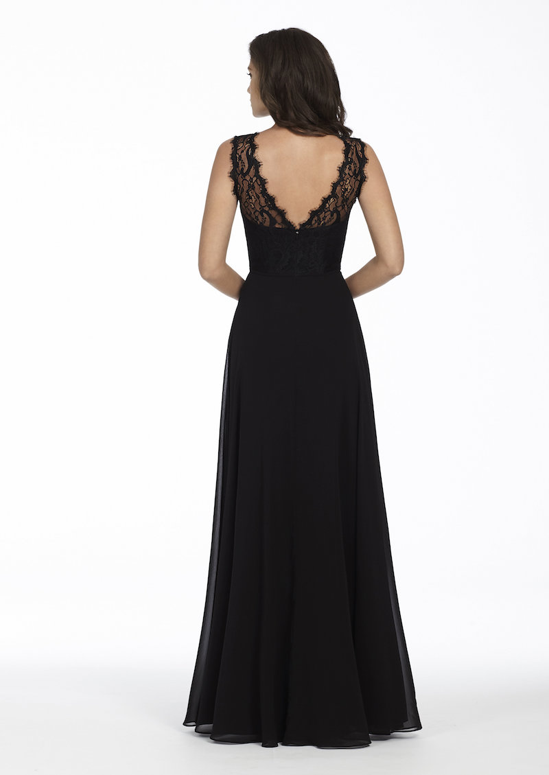 Back of 5756 bridesmaid dress by Hayley Paige