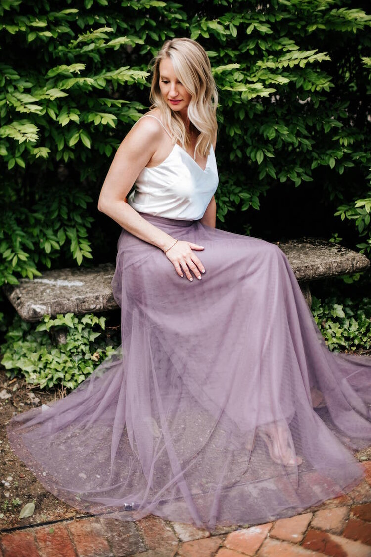 Lilac Winslow skirt by Jenny Yoo in Engagement Shoot in Columbus Ohio