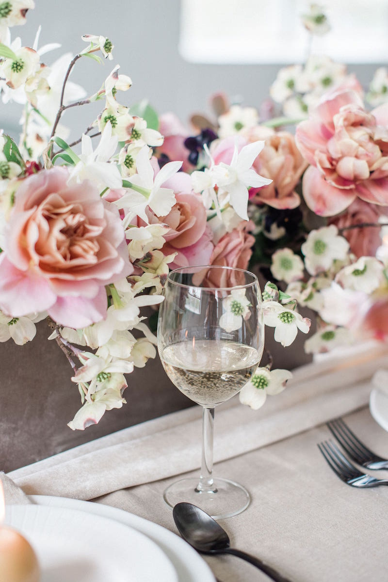 Auburn and Ivory styling on display at modern romantic styled shoot