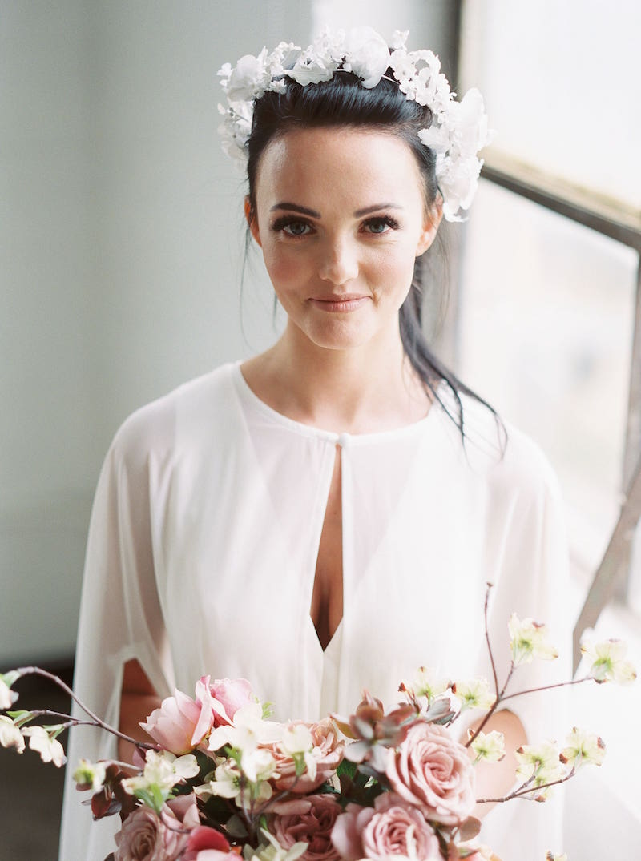 Brittney Atwood wearing Amsale Little White Dress jumpsuit