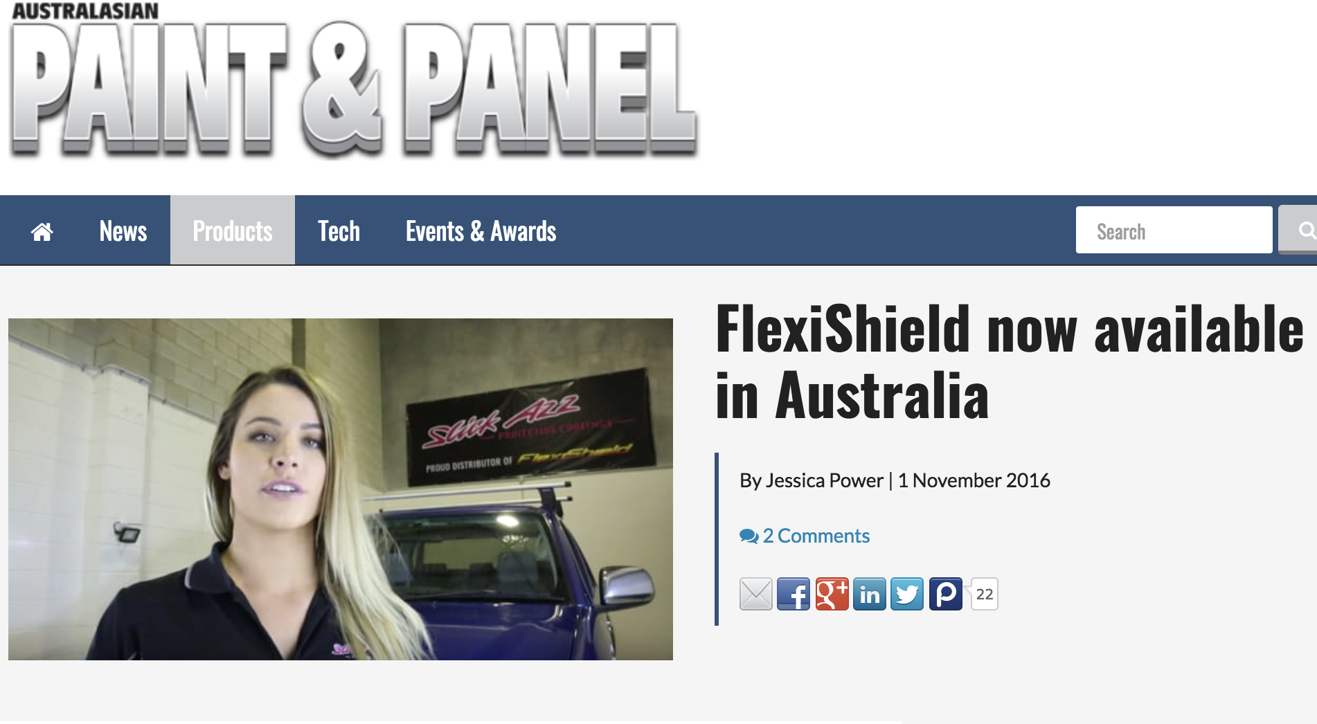 FlexiShield now Available in Australia - Maddison Lawrence
