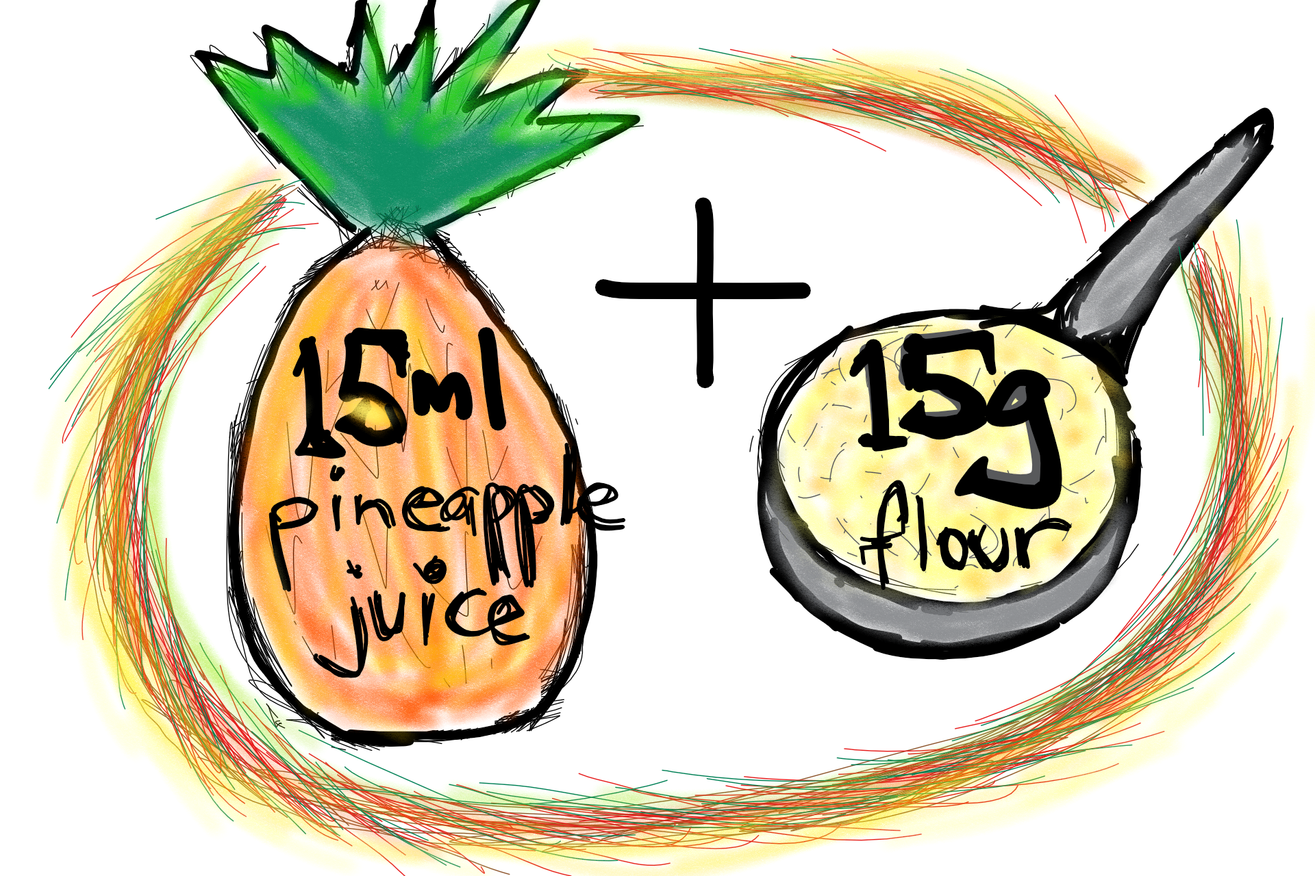 Day 1 - In your container, mix one tablespoon of wholegrain flour to one tablespoon of unsweetened pineapple juice.
