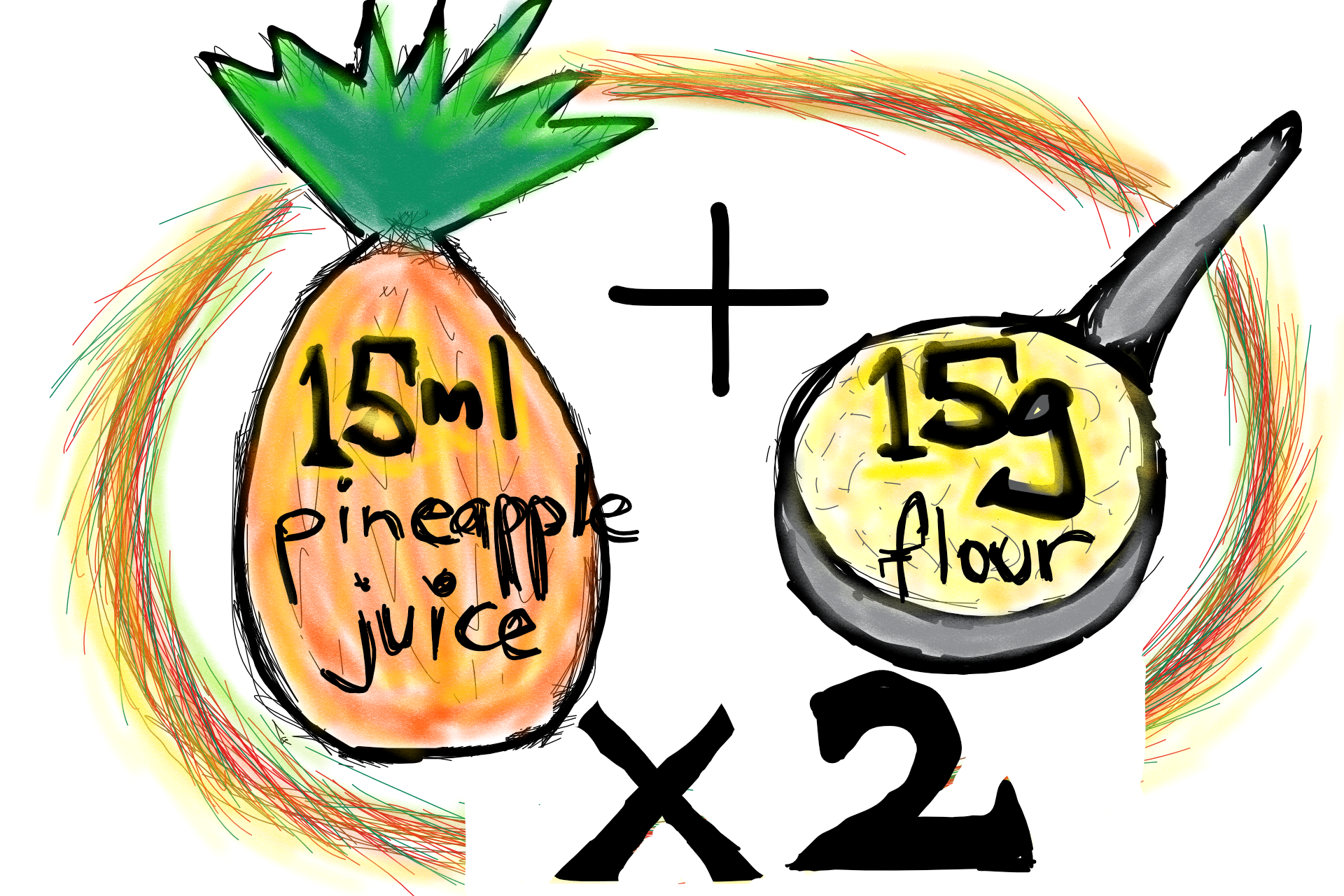 Day 4 - Add two tablespoons of wholegrain flour and two of pineapple juice and stir them into the mixture.