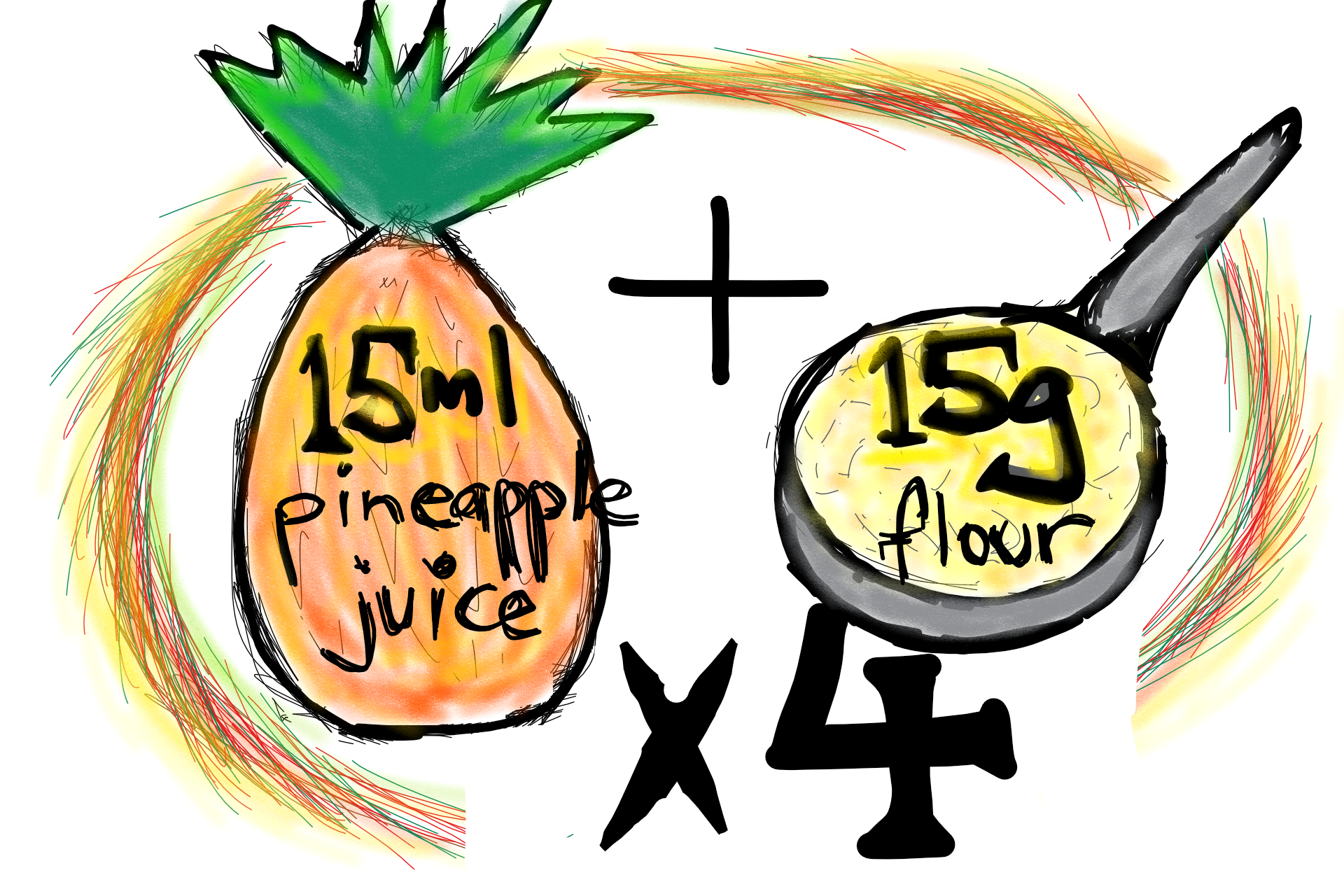 Day 7 - Add four spoons of wholegrain flour and four tablespoons of pineapple juice and stir in to the mixture.Allow to rest until bubbly (possibly another day or two. Your starter is now built.