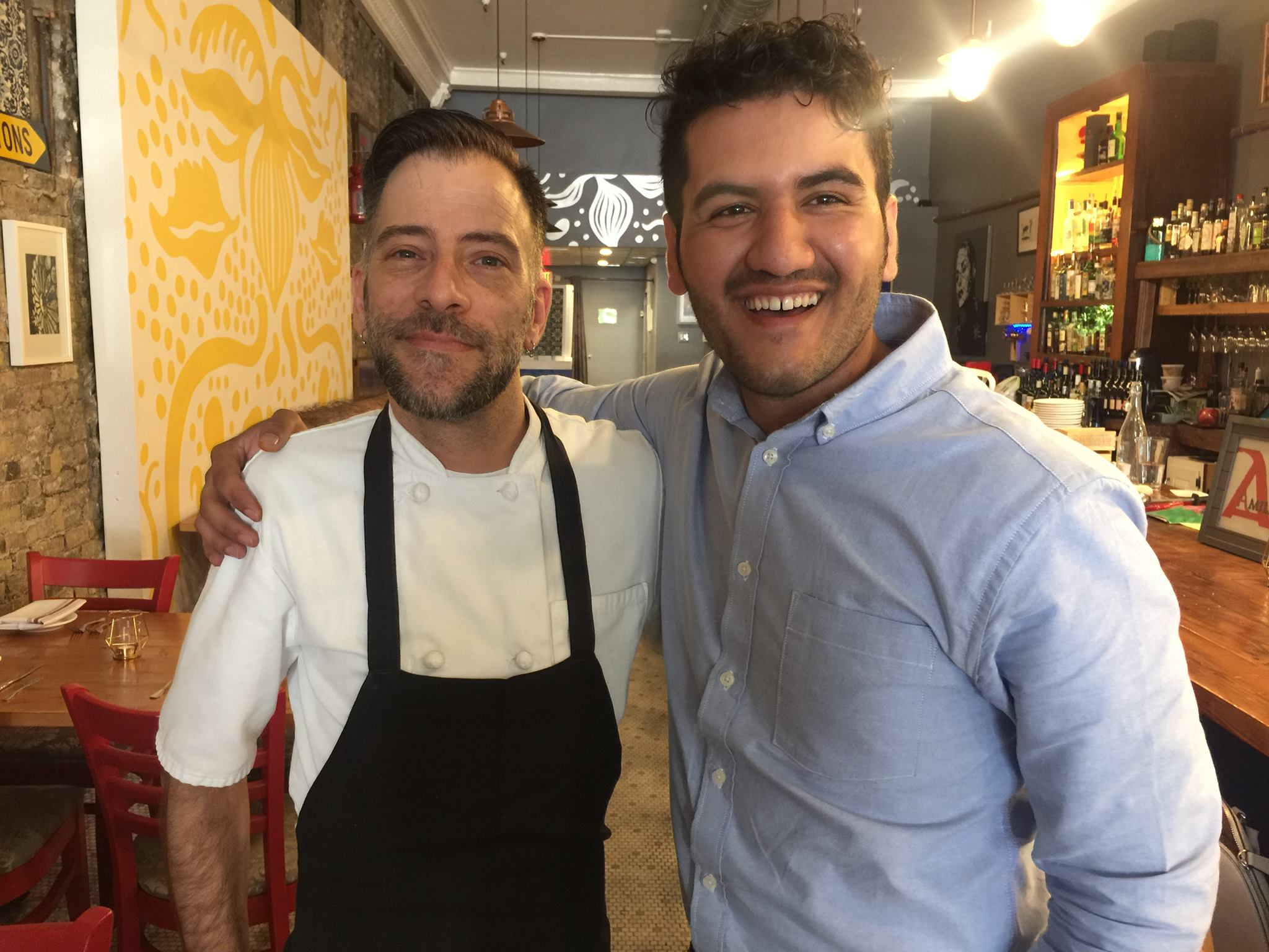Chef Greg of Amilinda(left)and Mohammad of Heray Spice