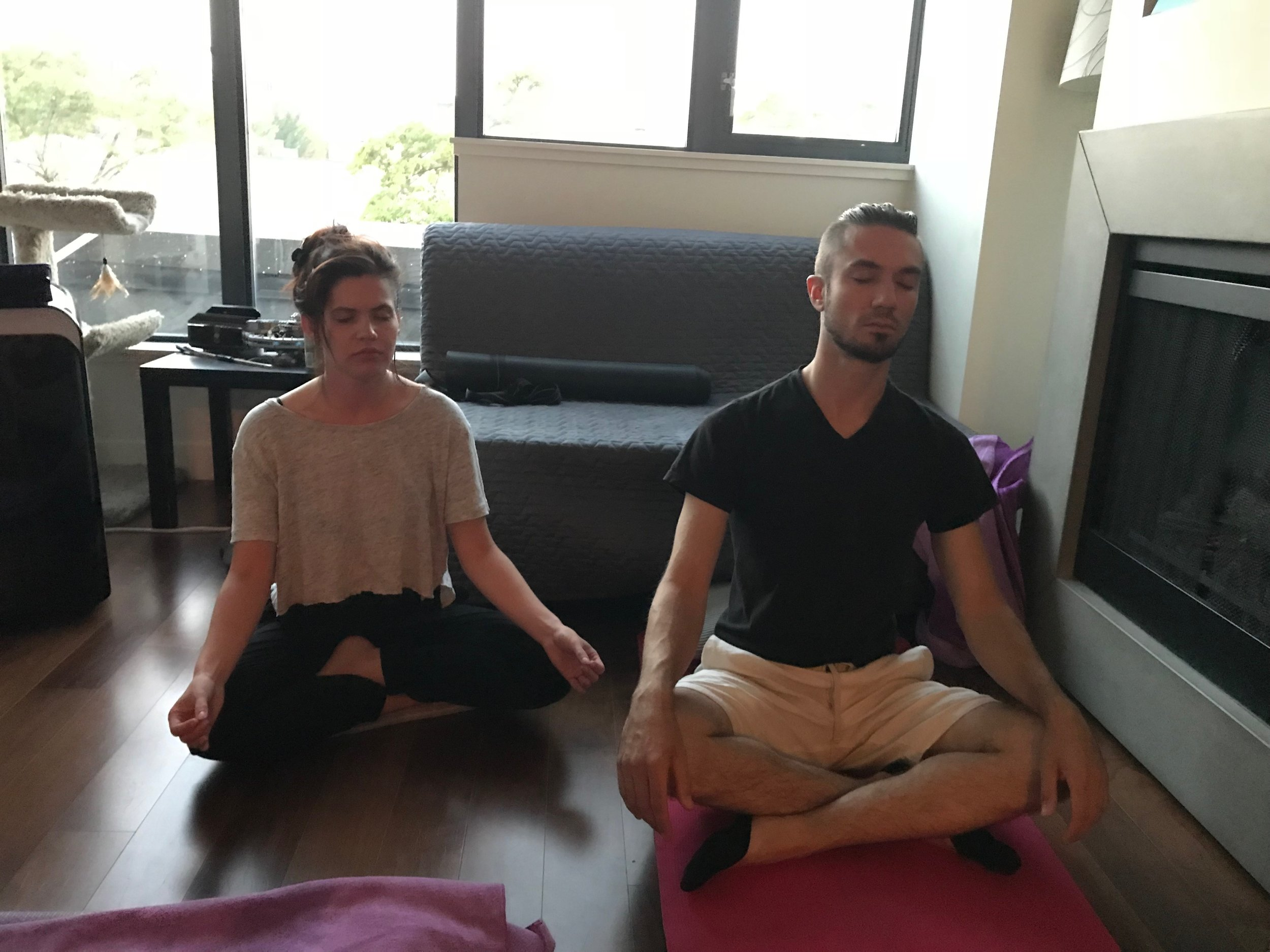 "Erica & Connor, Vancouver    ""Yesterday's meditation class with Terry at    @420meditation    was amazing. I finished the session opening my eyes and feeling so calm. Definitely going to make meditation a weekly practice."""