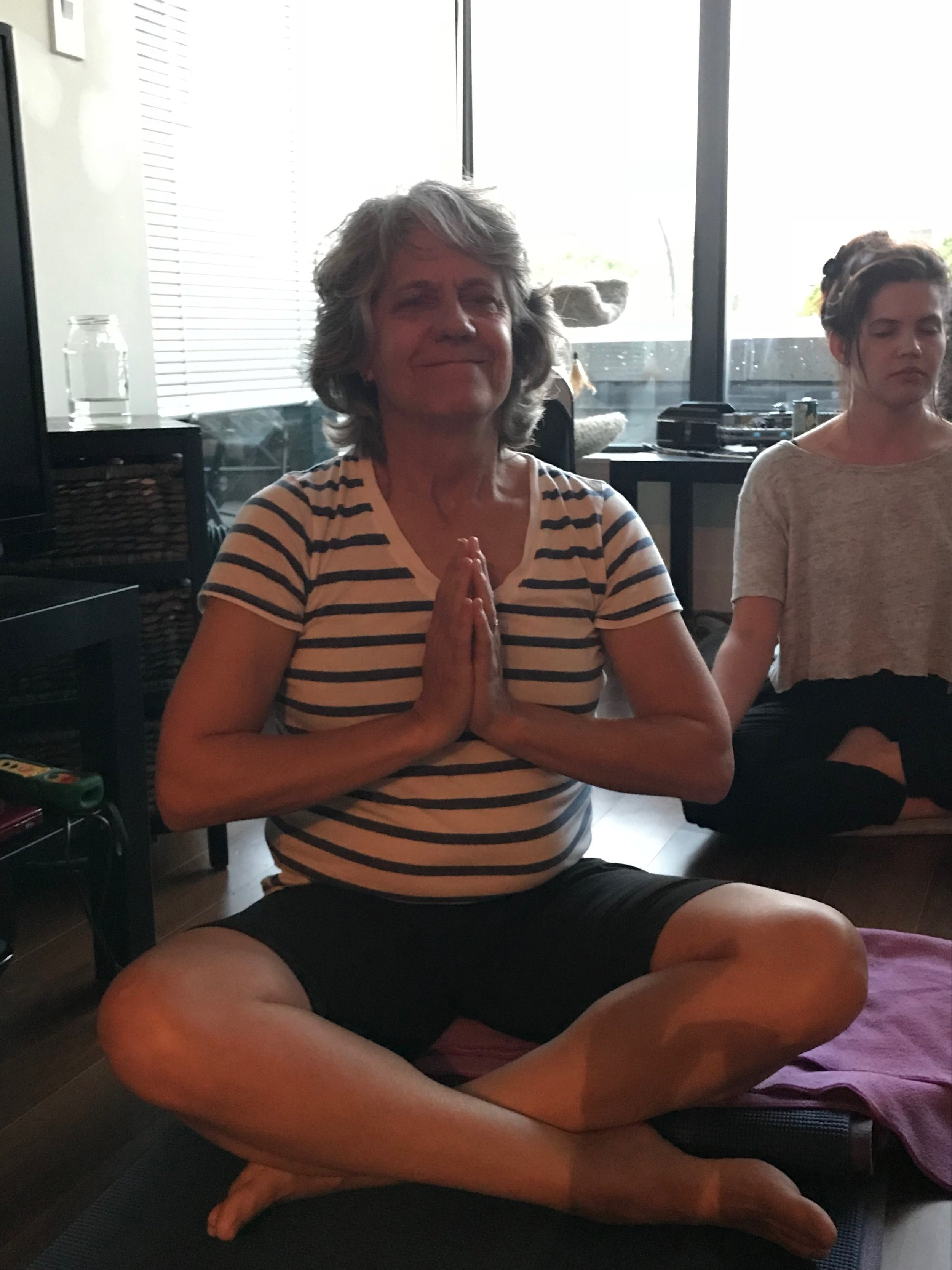 "Laura Stein, 57, Vancouver     ""   I learned to meditate with Terry. It was life changing."""