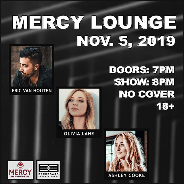 Mark your calendars for this show! @olivialanemusic is playing Mercy Lounge on Nov. 5th with @ericvanhouten and @theashleycooke!  #nashville #mercylounge
