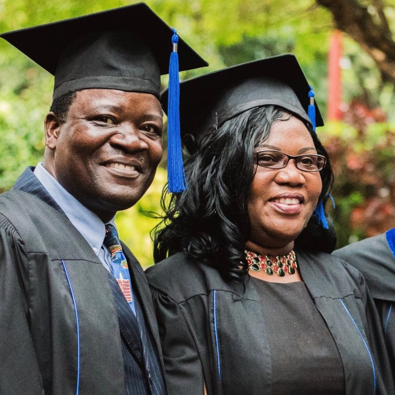 Eunice and her husband Sam studied and graduated together from ABI's inaugural Class of 2017