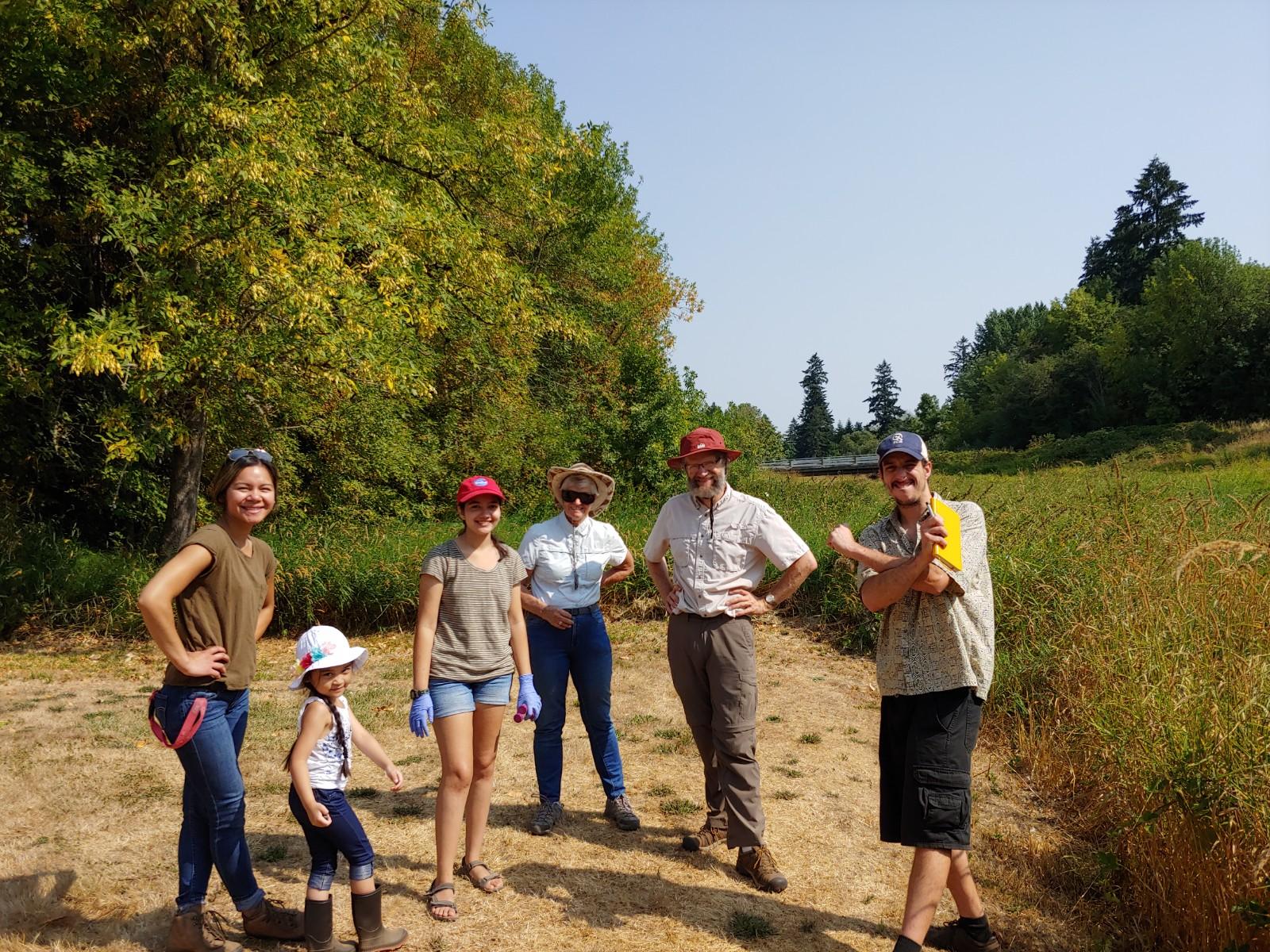 Crucicrew and helpers, Mill Creek Woodburn