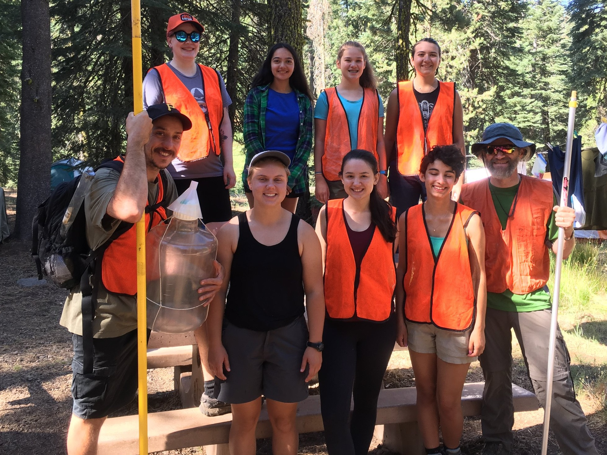The team from the 2018 trip to Lassen Volcanic National Park