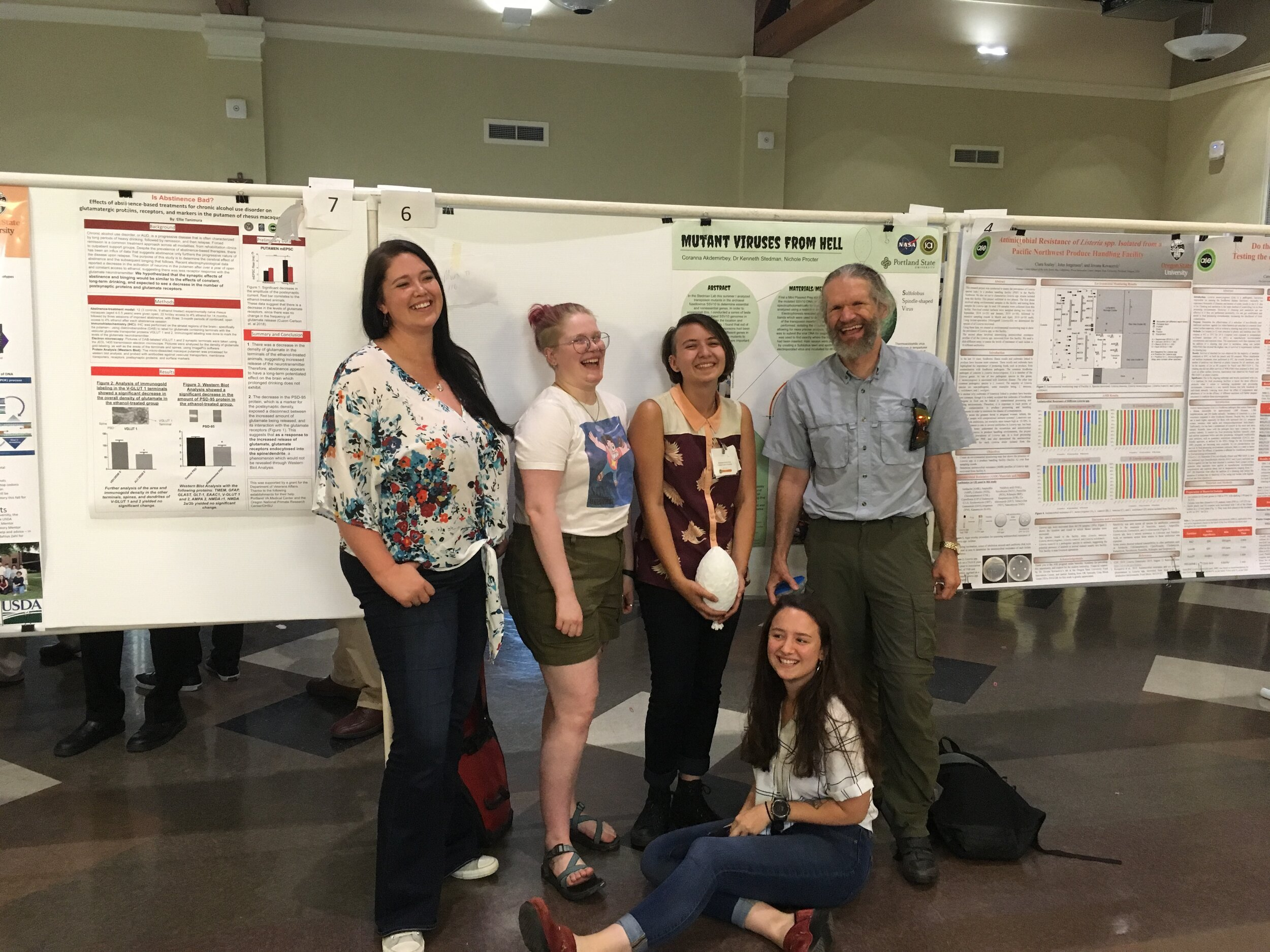 Poster Session at Apprenticeships in Science and Engineering Symposium University of Portland, 16 Aug, 2019