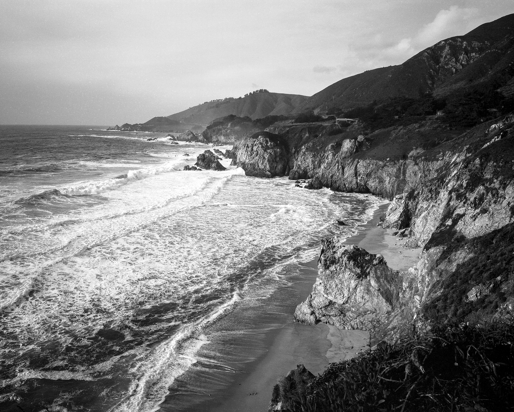 Film from driving down the California coast.