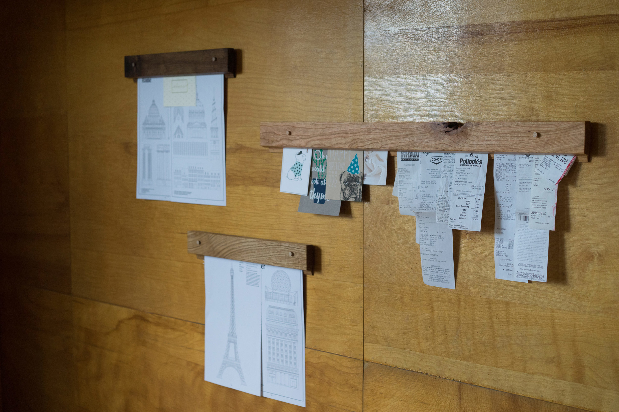 """""""I love solving problems through design and creation, and we all have problems to solve."""" - The Gravity Bar is a simple solution for hanging paper goods, that allows you to re-arrange easily, because change is good."""