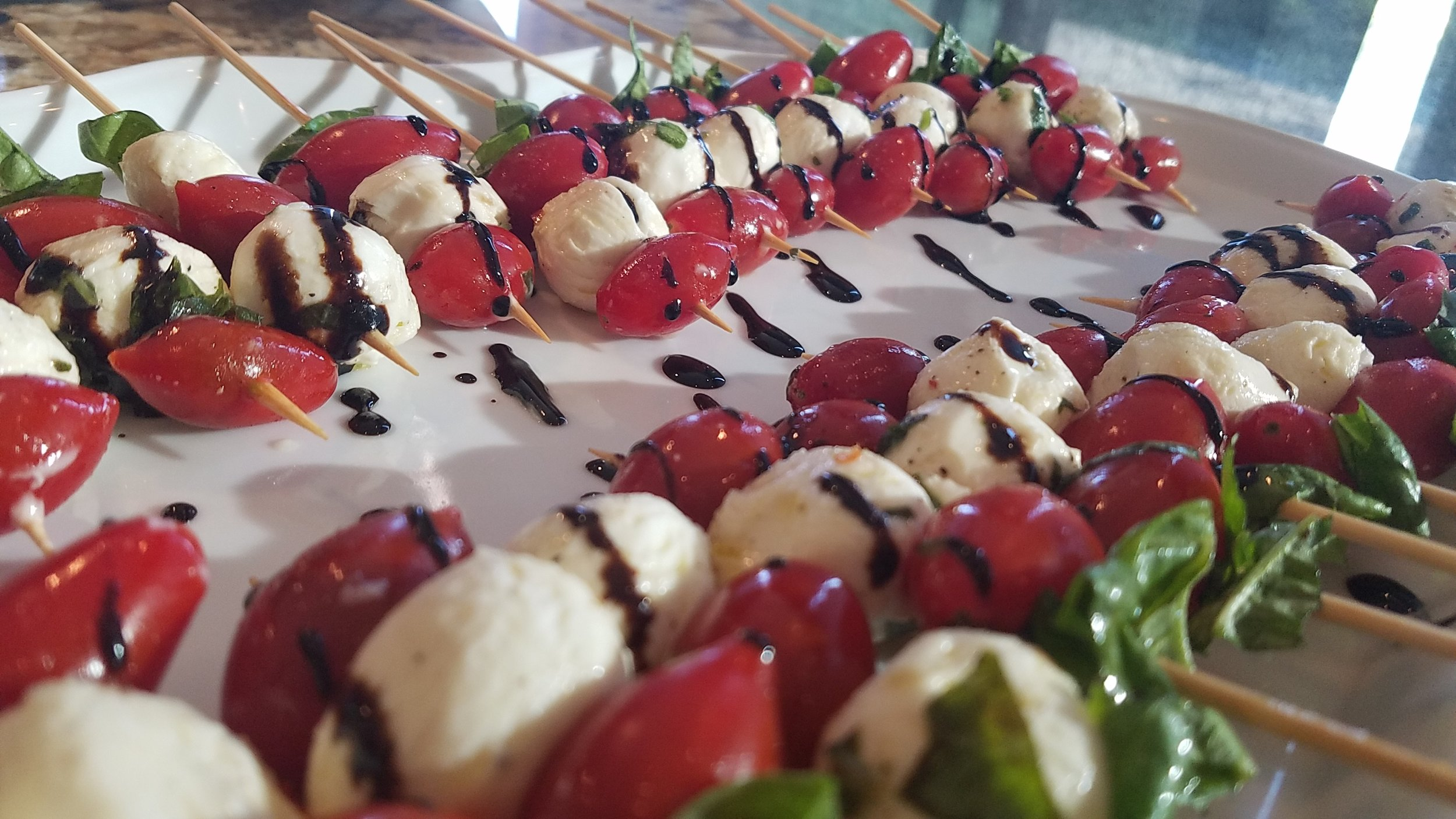 Caprese Skewers with Balsamic Syrup