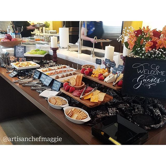Beautiful spread of appetizers for an event! Book your next event with us today! Link in bio.