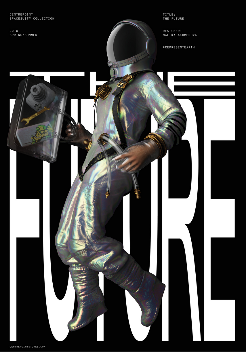 James Elgie: Centerpoint Spacesuit Collection for Dubai's space program set to launch 2117. Designer: Malika Akhmedova