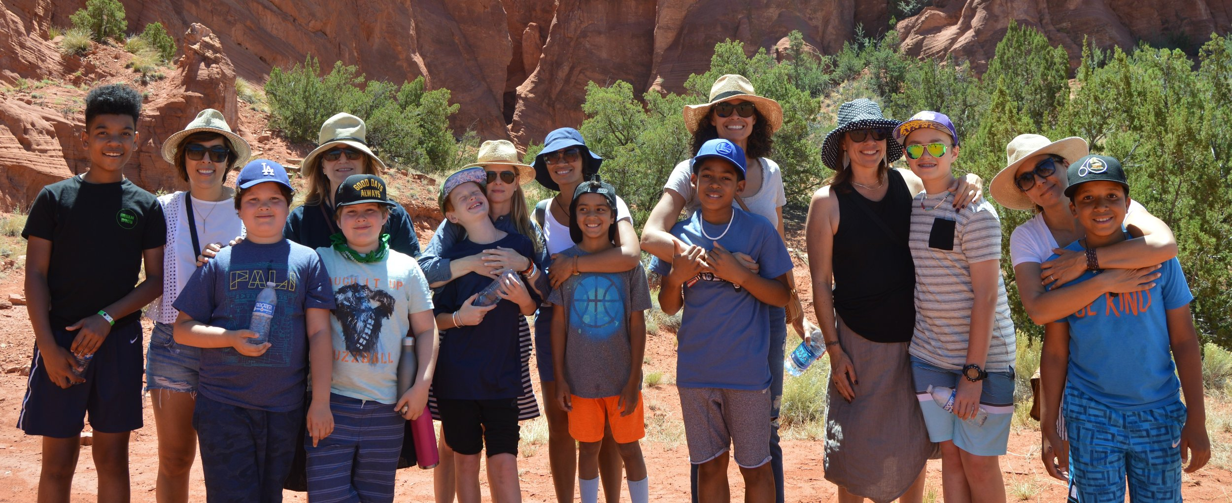 Mother + Son group picture at Jemez