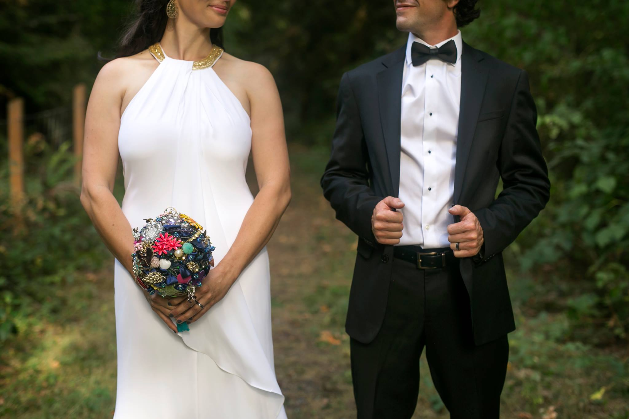 An image from our  farm wedding  after Banzai was born.