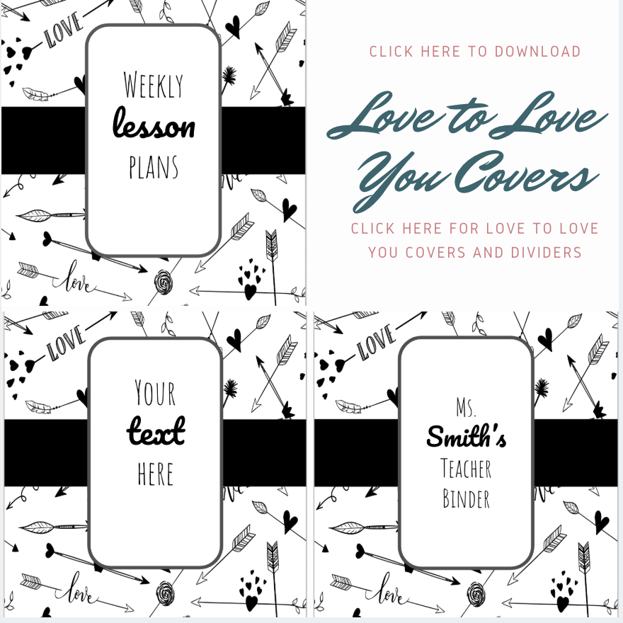 PRINTABLE Love to Love You covers: Click the image to download the printable Love to Love You covers and dividers.
