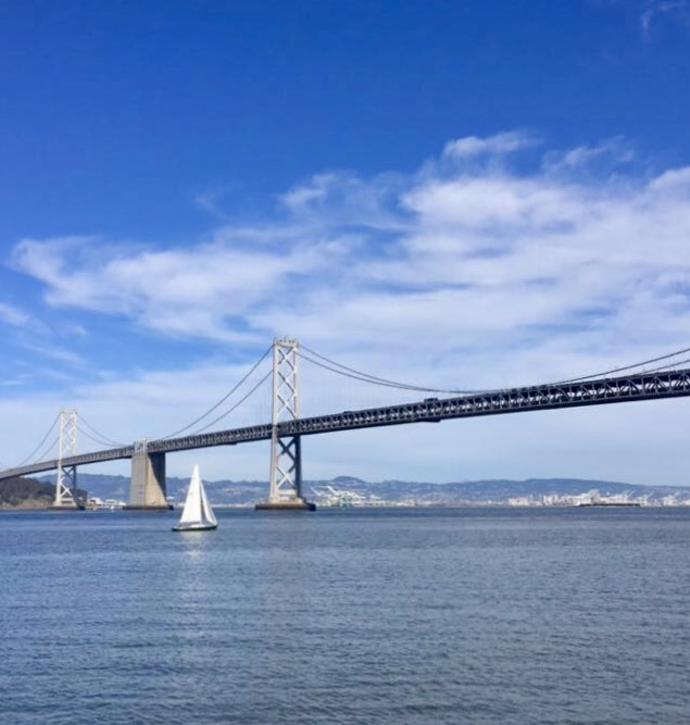 The San Francisco-Oakland Bay Bridge from the Embarcadero