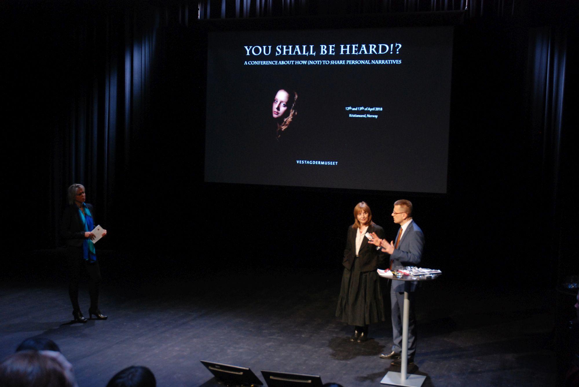 Norjan ICOMin Kathrin Pabst (vas), Taja Vovk Van Gaal ja Piots Majevski Kristiansandissa keväällä 2018. Kuva: Eero Ehanti