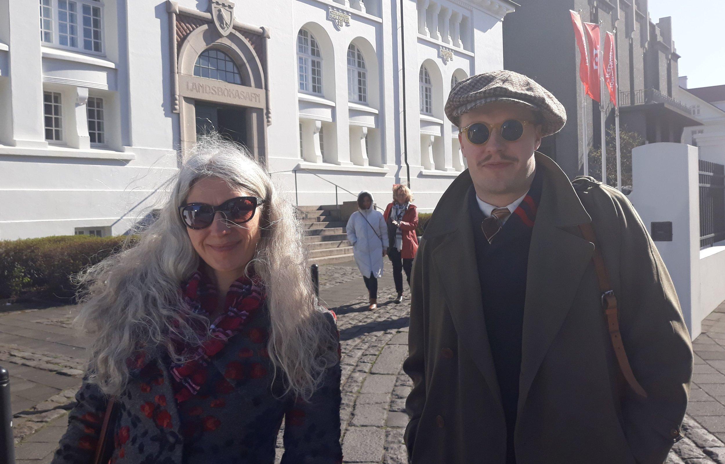 Carina Jaatinen ja Lassi Patokorpi Reykjavikissa 29.4.2019. Kuva: Eero Ehanti