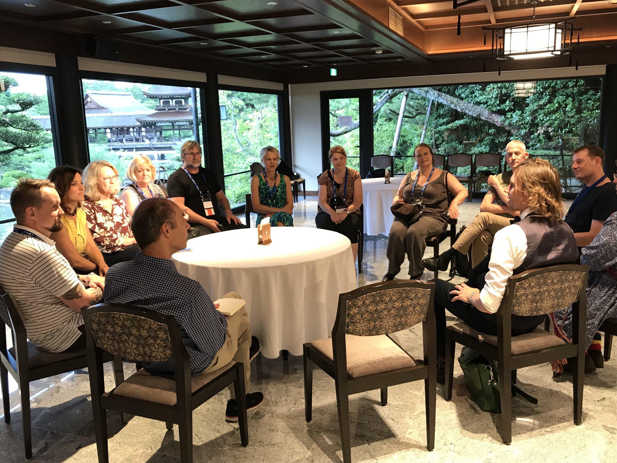Epävirallinen ICOM Nord -kokous Kiotossa ennen yhteispohjoismaista vastaanottoa torstaina 5. syyskuuta.