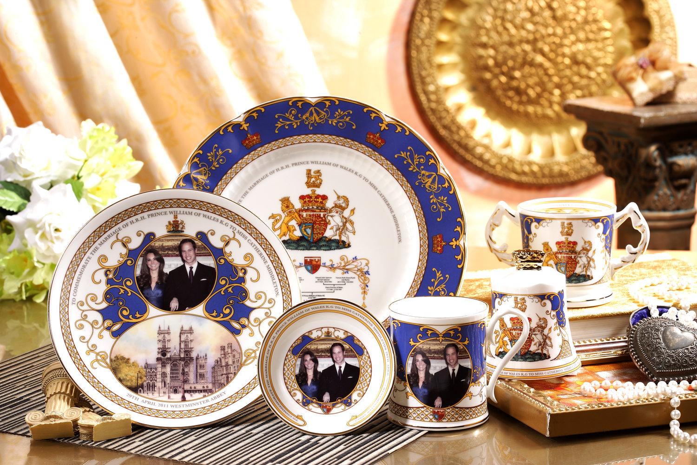 2011 英国威廉王子大婚瓷器(Aynsley)-Robert Huang黄腾辉 设计