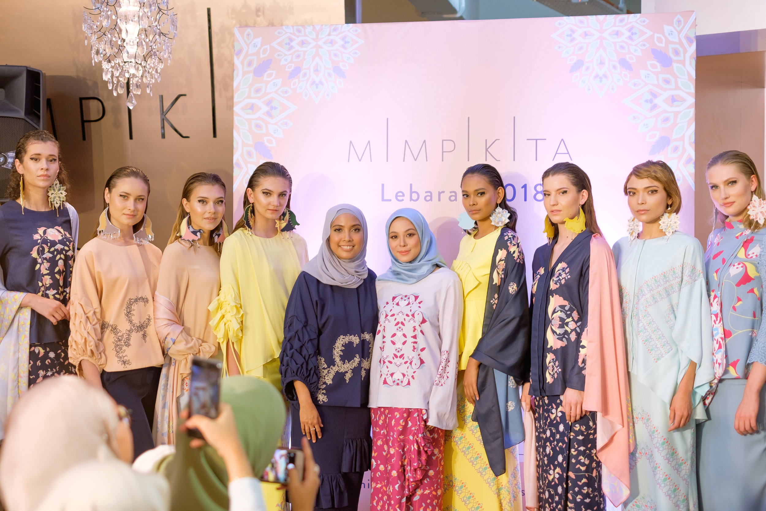 """Mimpikita, Nurul Zulkifli: - """"Its our 10th year anniversary this year and we feel a little nostalgic coming up with this collection as we look back at our little milestones over the years. There are some familiar prints, designs and silhouette which we bring back with a new breath into this year Lebaran"""""""