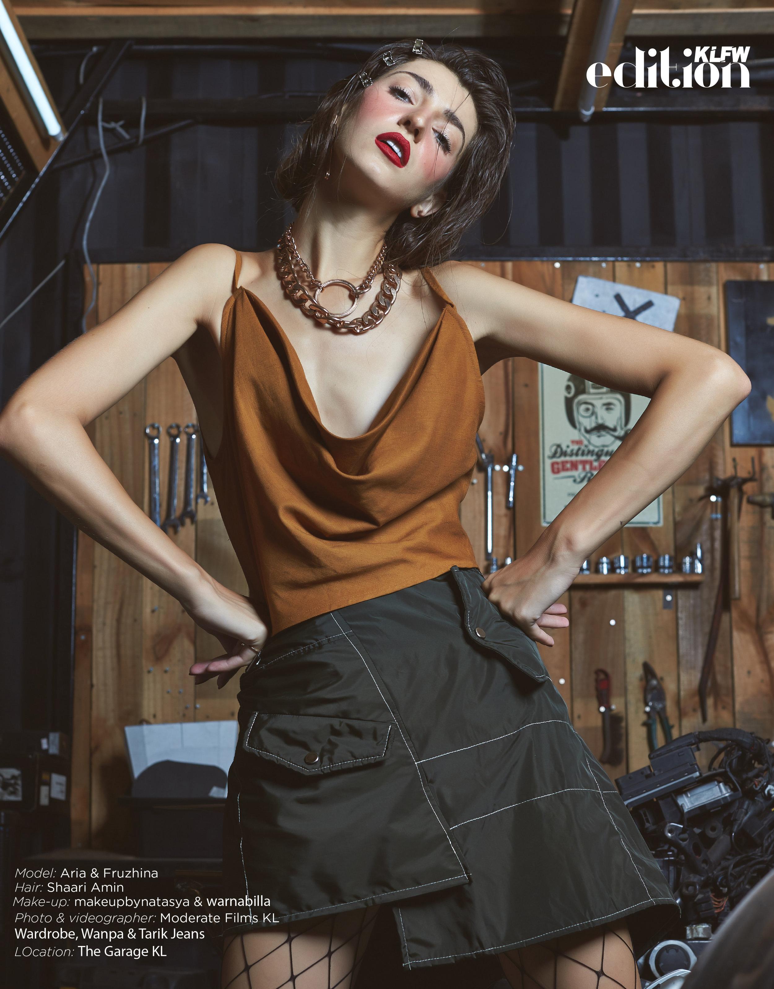 Models:  Aria  &  Fruzh i , Hair:  shaari_amin  , Makeup:  makeupbynatasya  &  warnabilla , Stylist:  nazlivingastyle  ,  Wardrobe ,  Wanpa  &  Tarik Jeans  Photo & Videographer:  Moderate Films KL , Location:  The Garage KL