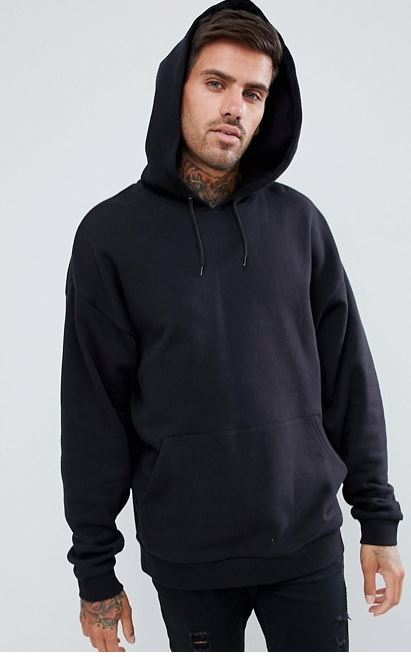 ASOS Design Oversized Hoodie Black.