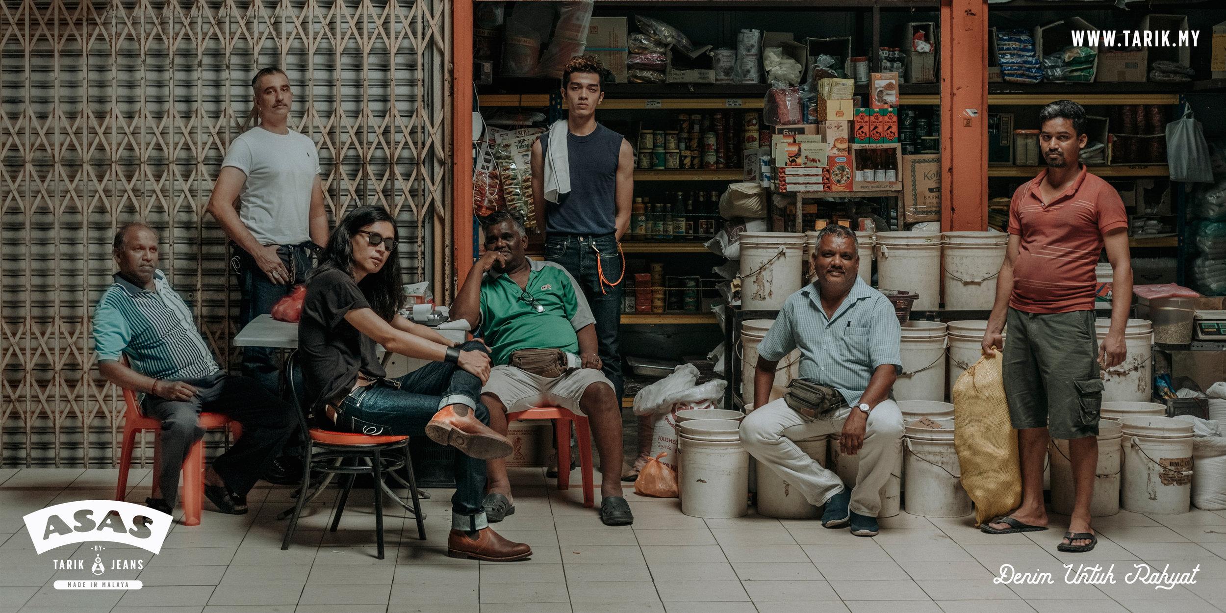 Photography : John Leong , Styling : Jiman Casabancas of Tarik Jeans Models : Al Adam, Joe TigaMoto and Julian Lim , Guest appearance by the local heroes of PJ Old Town Market