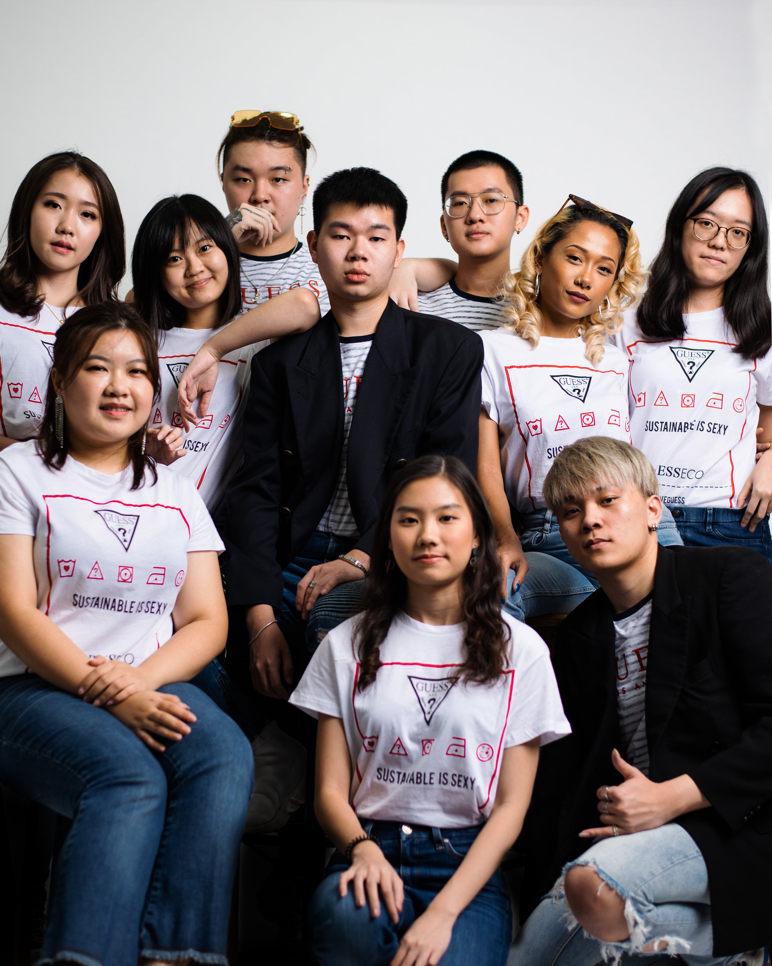 Raffles College of Higher Education KL Young Fashion Design students at Guess Resourced Campaign
