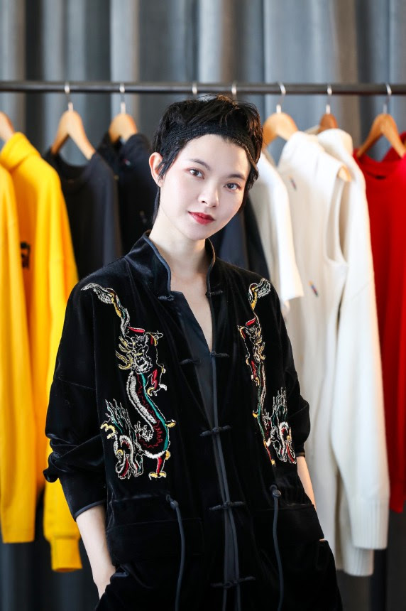 """""""I am grateful and privileged to have this opportunity to work with H&M to launch it's first Chinese designer collaboration collection. With the development of global market, more Chinese designers are stepping on the international stage. And I hope that through this collaboration, more people will pay attention to Chinese designers, and also the Chinese culture and spirit behind their designs."""" - Angel Chen"""