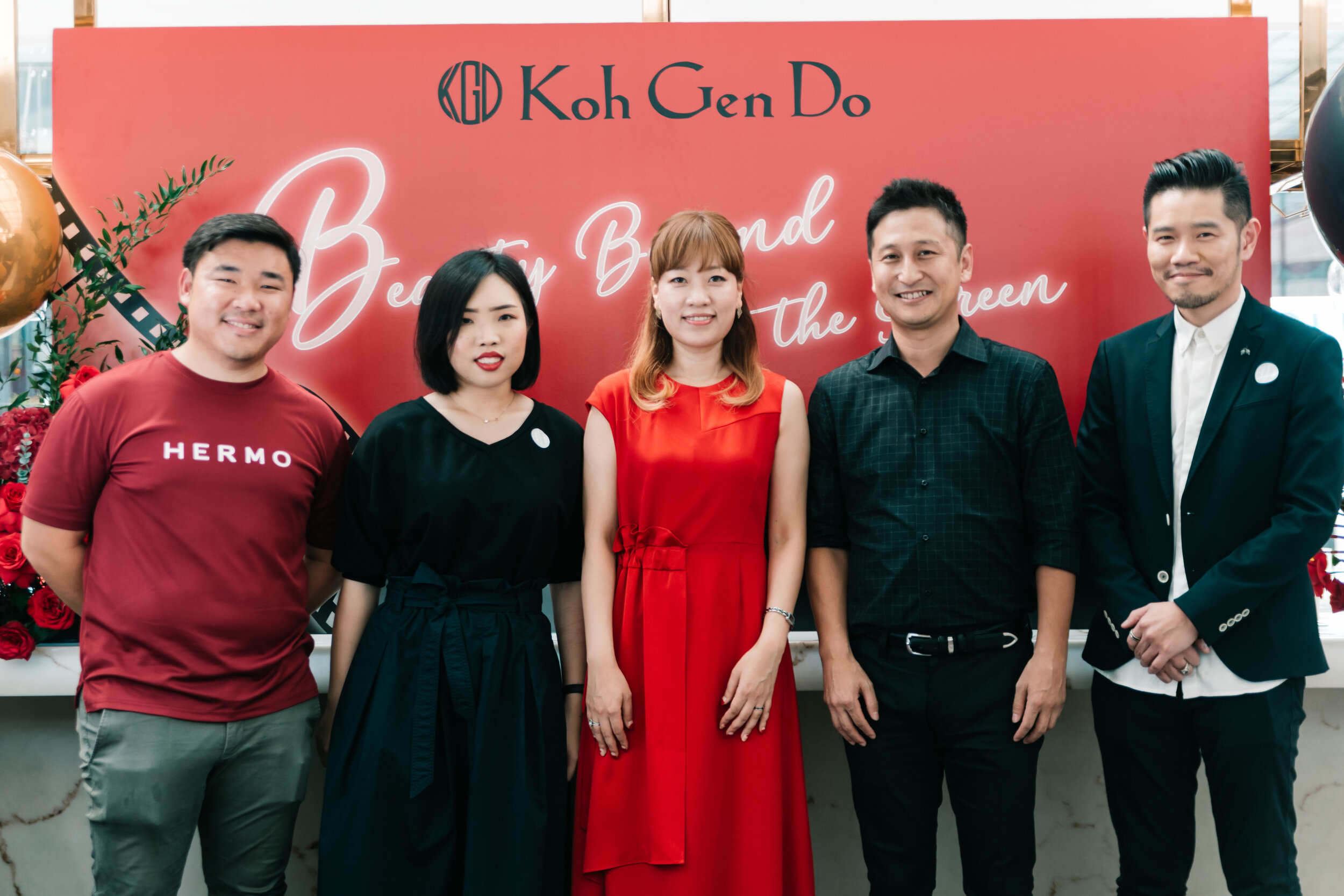 The official launch of Koh Gen Do in Malaysia, bringing to Malaysian beauty enthusiasts, cosmetics that is loved by Hollywood superstars and celebrities. - ( Left to Right ) : Mr Chin Seng, Manager of Hermo Global; Ms Melvina Lee, Perfume & Cosmetics Buyer of Air Asia X Bhd and Our Shop; Ms Yunje Jang, General Manager of Overseas Business Department, Koh Gen Do; Mr Motoya Tanaka, Senior Deputy Director of Transcosmos Malaysia Sdn Bhd and Mr Stanley Wong, Assistant General Manager of Parkson Unlimited Beauty: PLAY UP