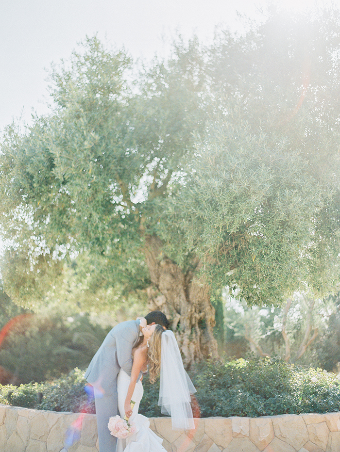 Partners Embrace Jenna & Trent Edwards' wedding at Villa Sevillano in Carpinteria, CA