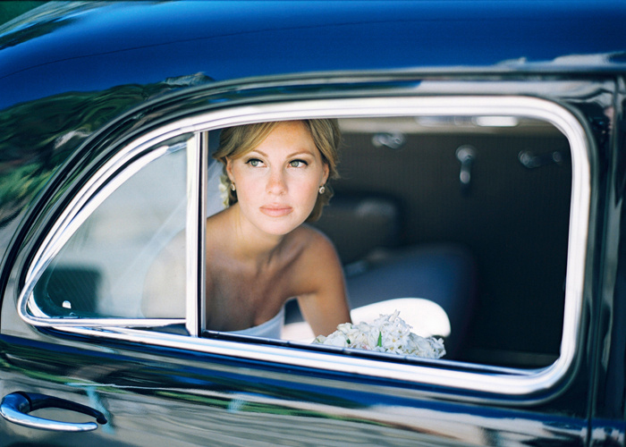 Beautiful Bride in Classic Car.JPG