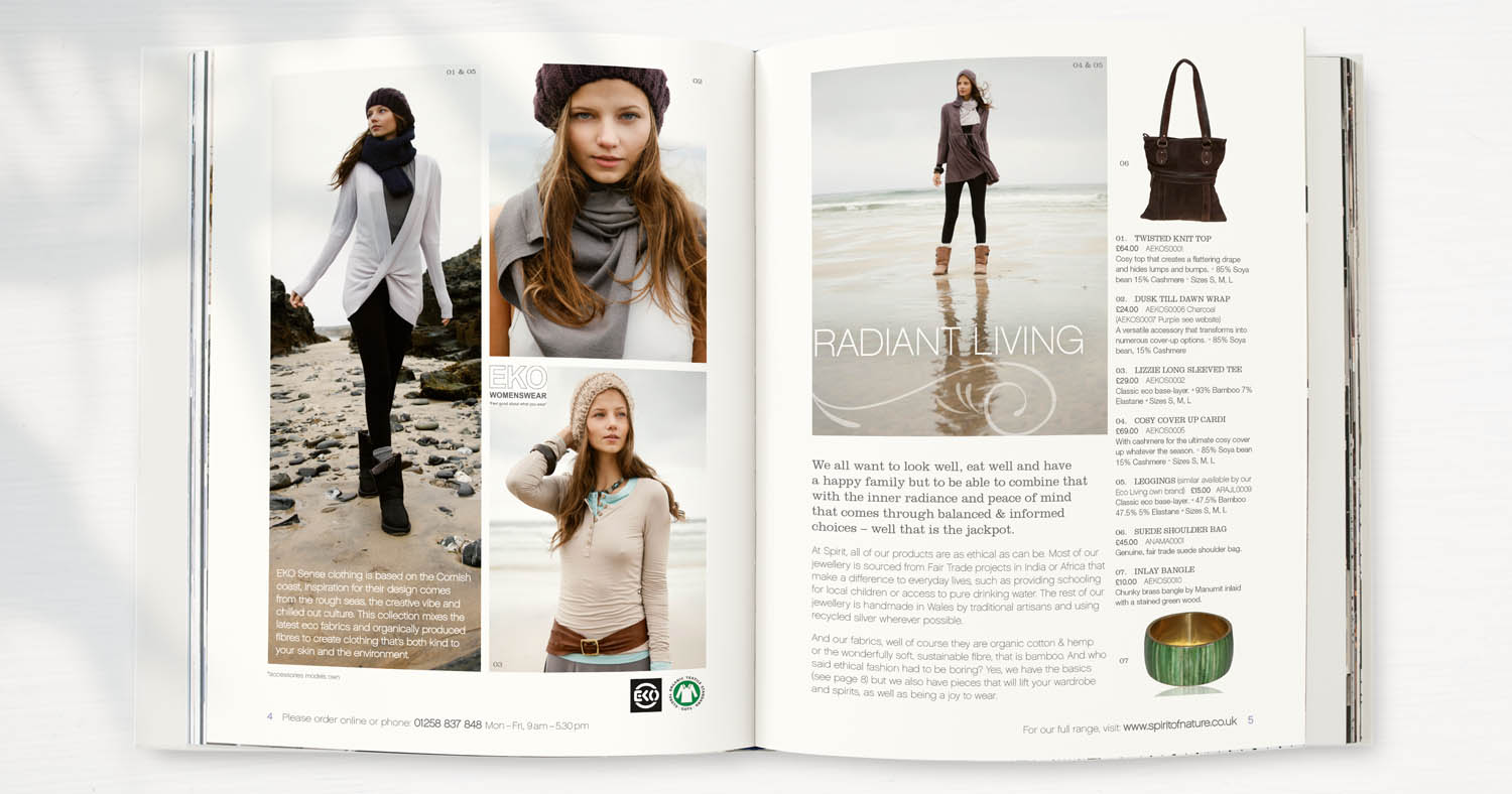 Organic clothing and natural eco products catalogue