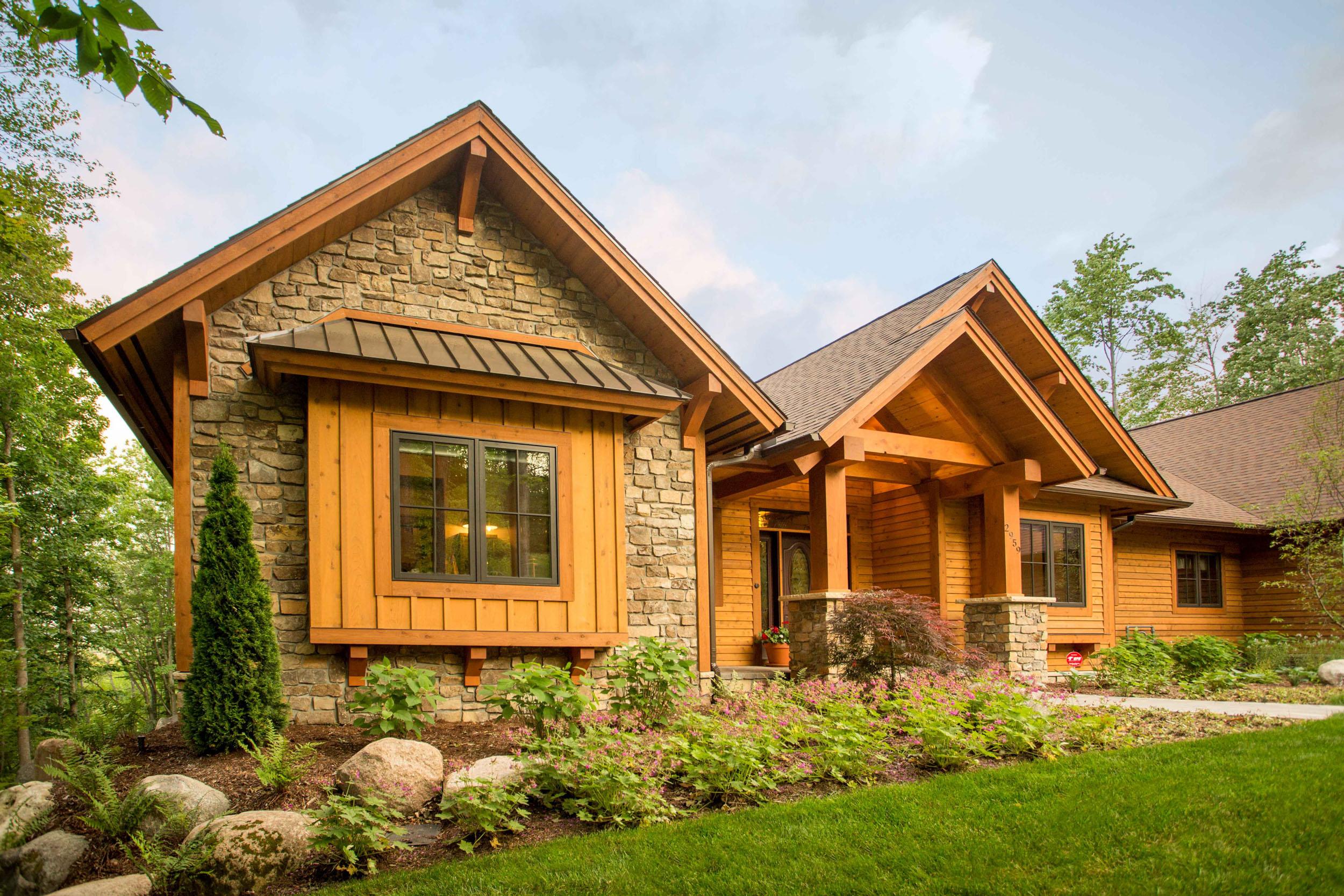 Rustic Northern Michigan Custom Home -