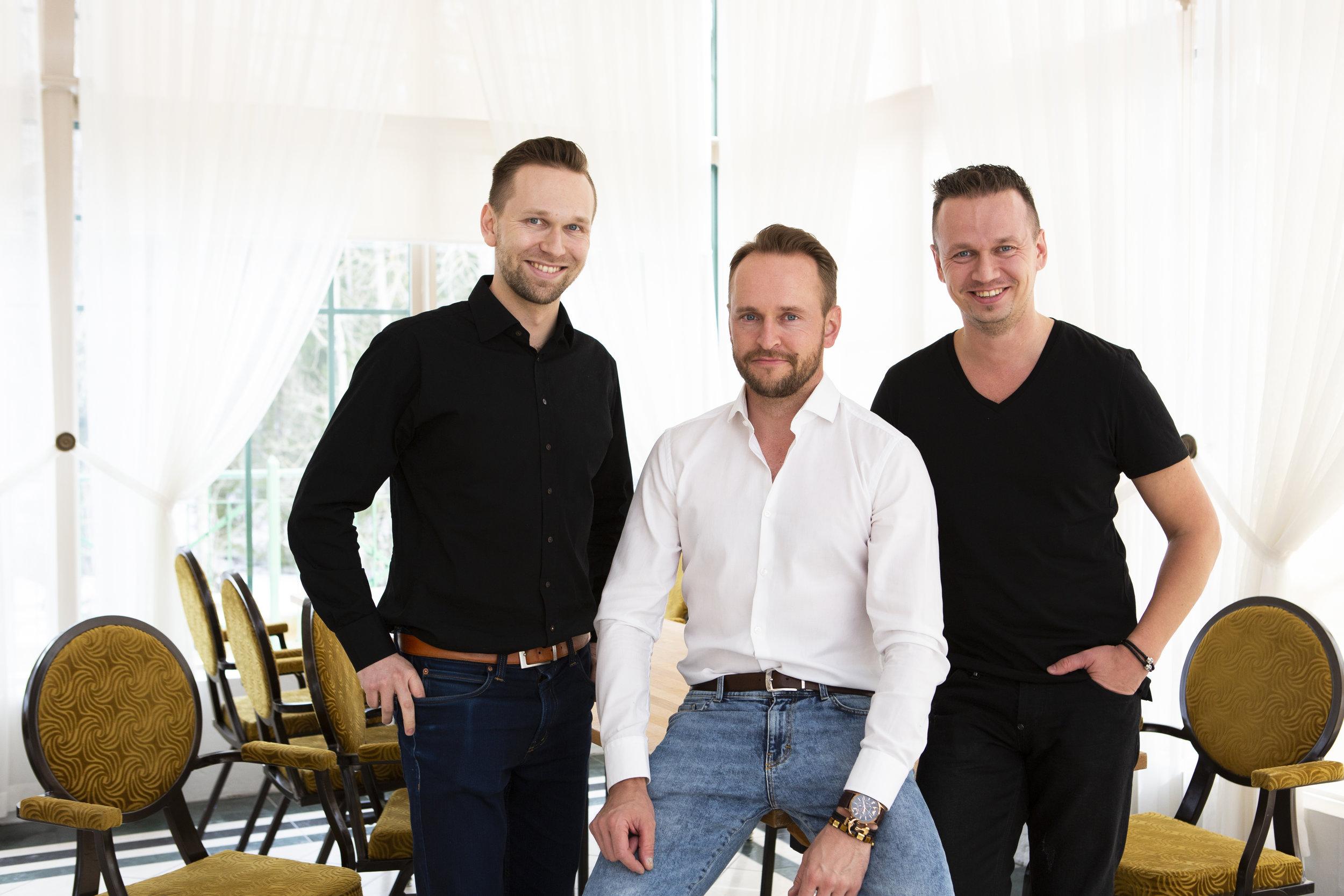 The owners of Kaslink/Ägarna av Kaslink:  Matti Kukkonen, Tuomas Kukkonen and Juha-Petteri Kukkonen