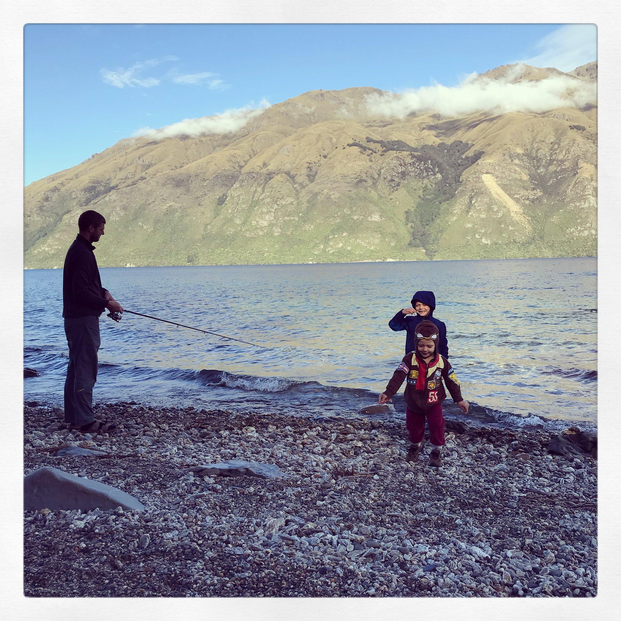The clean fresh shore of Lake Wakatipu.